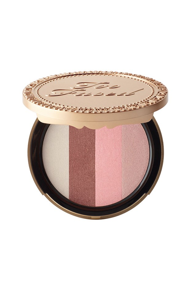 <strong>Fair skin </strong></br></br> Sheer, rosy tints are ideal for creating a natural radiance that won't overpower your porcelain complexion. </br></br> <em>Snow Bunny Natural bronzer, $44, Too Faced, mecca.com.au</em>