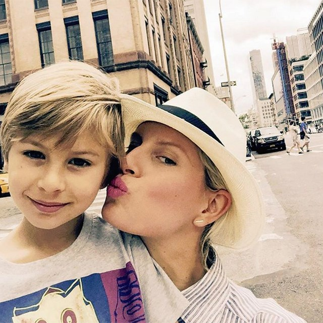 @karolinakurkova and her son Tobin.