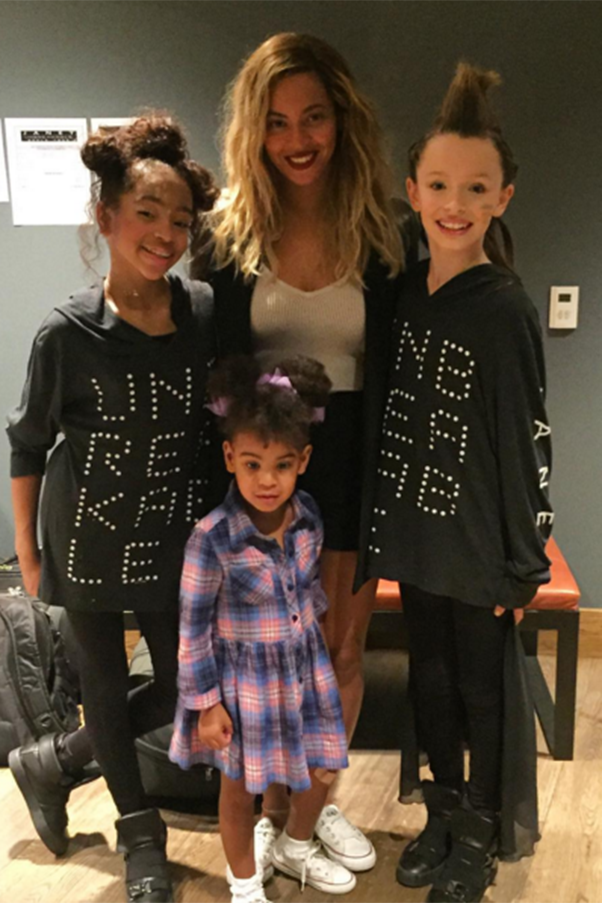 Beyonce And Blue Ivy Wore Matching Shoes At A Janet Jackson Concert