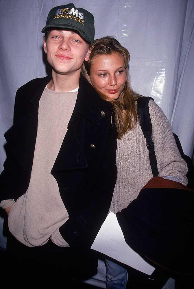 Bridget Hall, 1994: The supermodel was Leo's first model girlfriend. Probably…