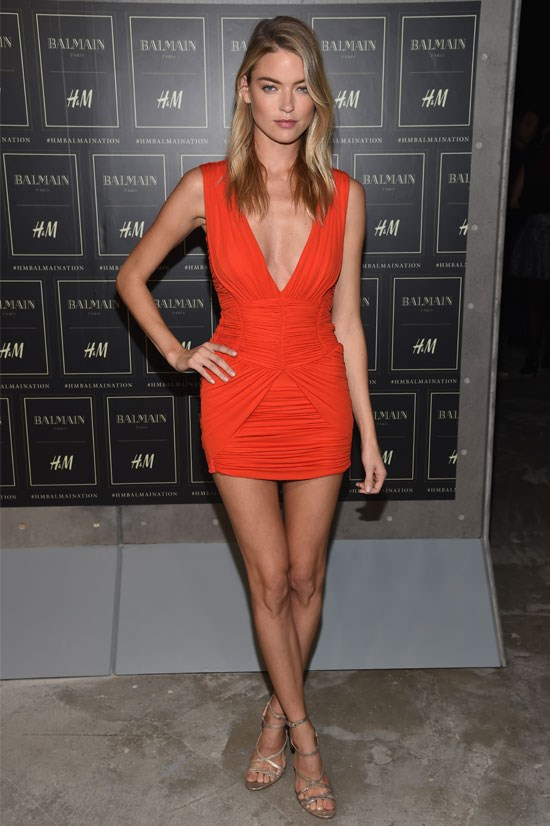 Martha Hunt opts for a pop of colour.