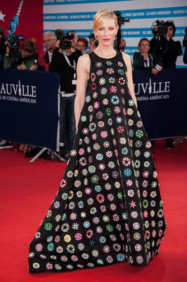 Cate Blanchett loves taking fashion risks, this Raf creation is no exception.