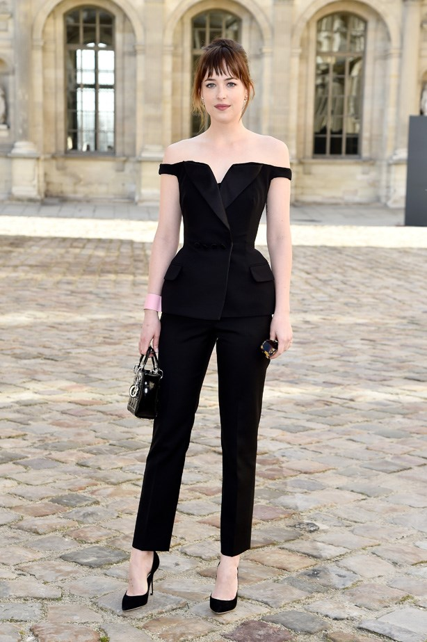 Dakota Johnson in the worlds most amazing jumpsuit. Wow.
