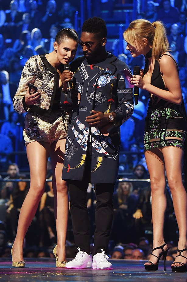 Bianca Balti, Tinie Tempah and Hailey Baldwin.