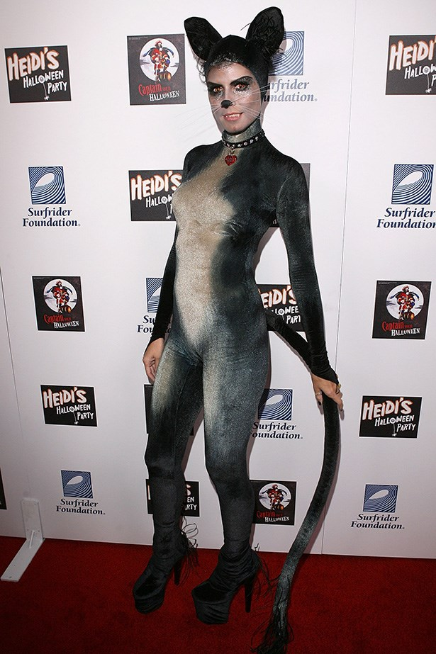 Heidi Klum as a cat.