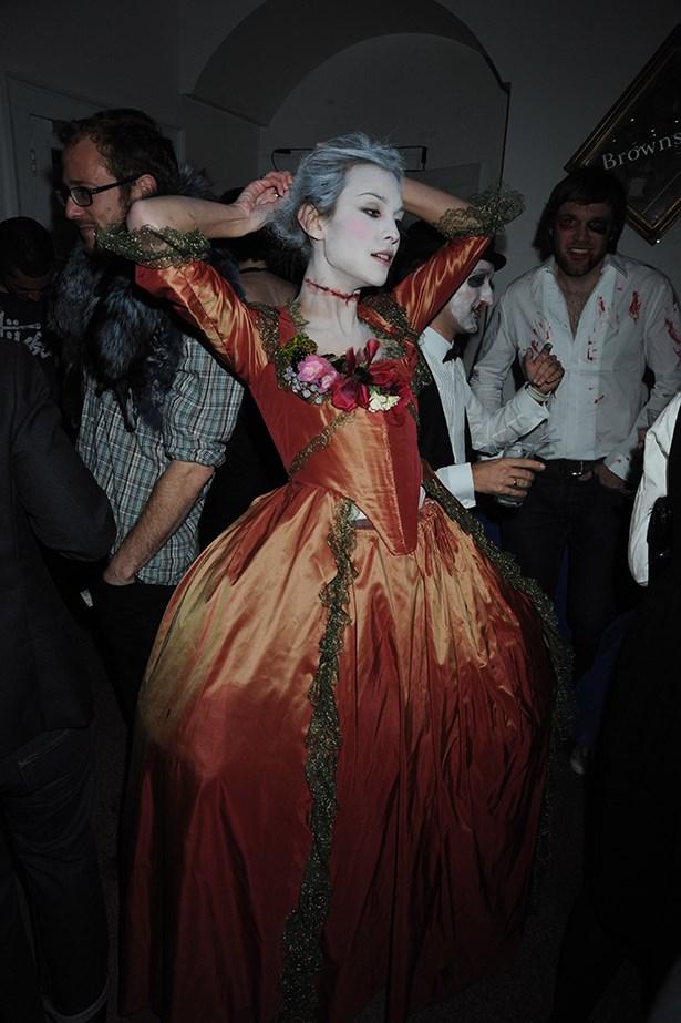 Alexa Chung as a zombie Marie Antoinette.