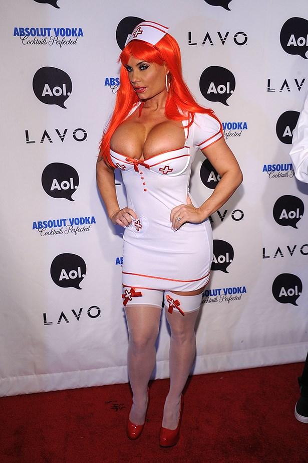 Coco Austin as a nurse.
