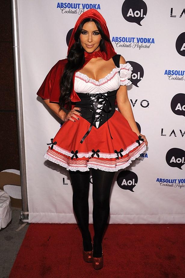 Kim Kardashian as Little Red Riding Hood.