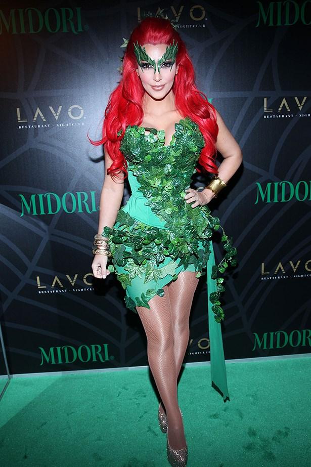 Kim Kardashian as Poison Ivy.