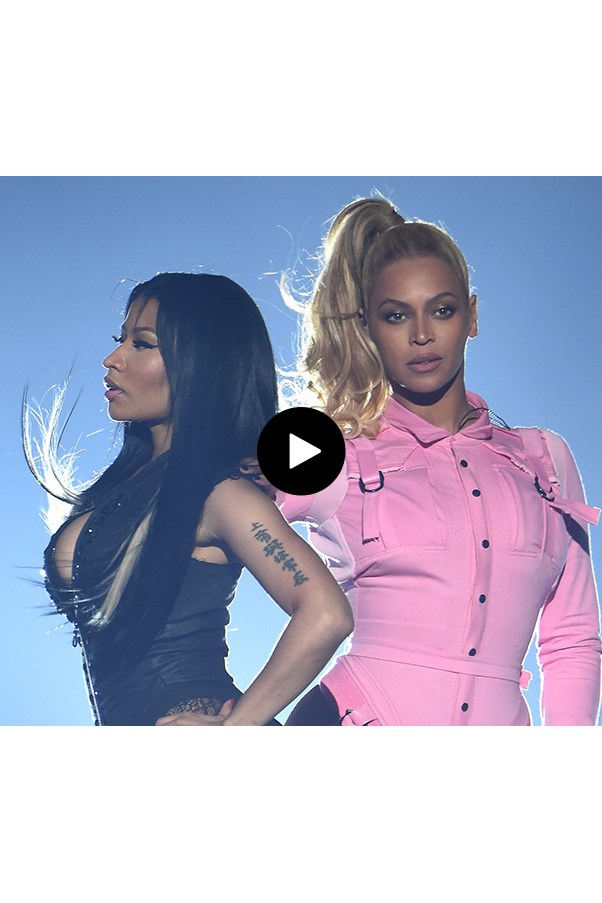 Watch Beyonce And Nicki Minaj Face Off In Epic Staring Contest