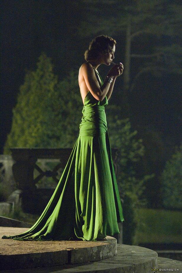 <em>Atonement.</em> The movie made us cry, but the dress made our hearts stop. The green sheath worn by Kiera Knightley in the film was designed by Jacqueline Durran.