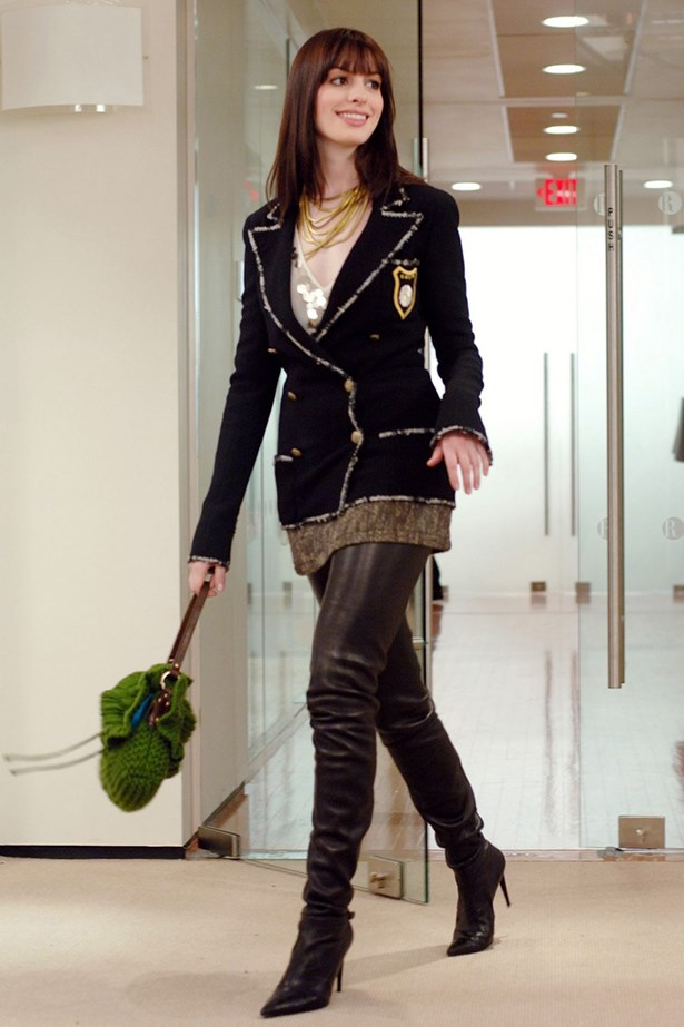 """<em>Devil Wears Prada.</em> """"Are you wearing..?"""" """"The Chanel boots? Yeah, I am."""""""