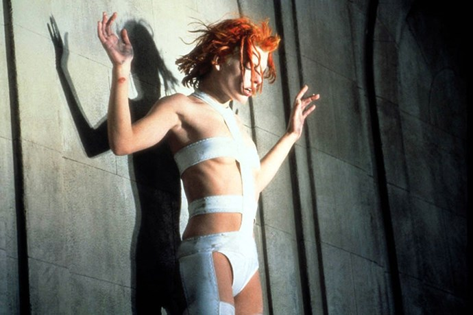<em>Fifth Element.</em> Fifth Element was one of the first movies that didn't portray the future as a drab, dark dystopia, and the costumes - Leeloo's included - were one of a kind.