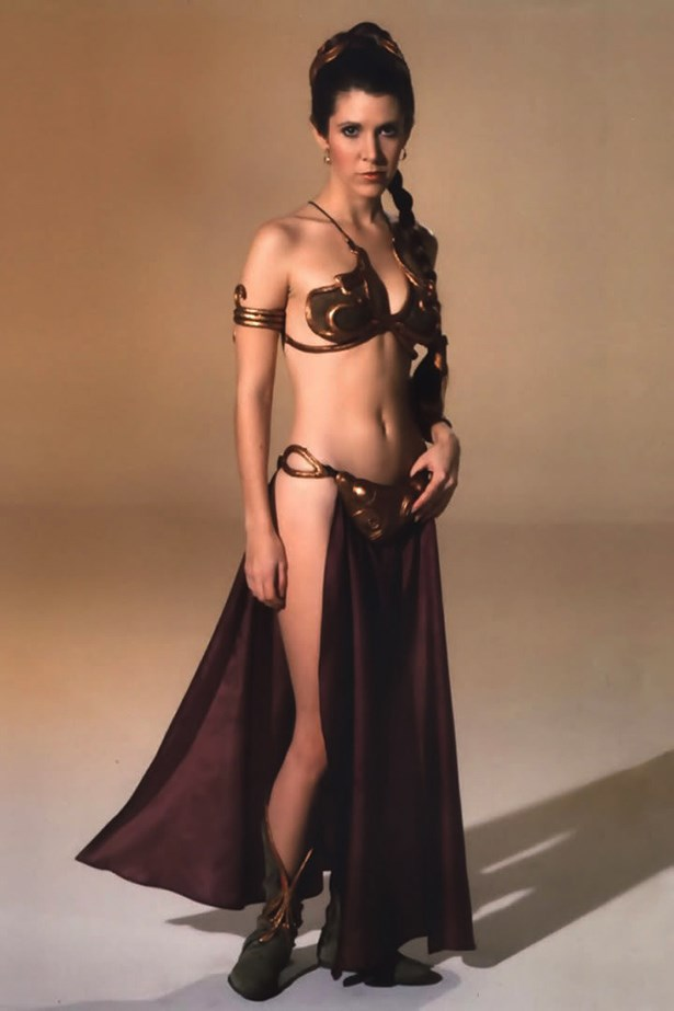 <em>Star Wars.</em> No iconic film costume list would be complete without the Princess Leia slave bikini. The design has been commemorated on a thousand nerd screensaver and even more ComicCon cosplays.