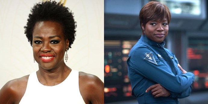 <strong>VIOLA DAVIS TAKES ON THE ROLE OF MAJOR ANDERSON</strong> <br> <br> In Orson Scott Card's 1985 sci-fi classic novel, <em>Ender's Game</em>, Major Anderson is a man. But in the Hollywood adaptation of the book, the character is transitioned to female during a series of script rewrites. In the film, Viola Davis plays Major Gwen Anderson, part of the team who oversees the Battle School, where much of the central action takes place. She's second in command and authoritative, seamlessly shifting the character from page to screen.