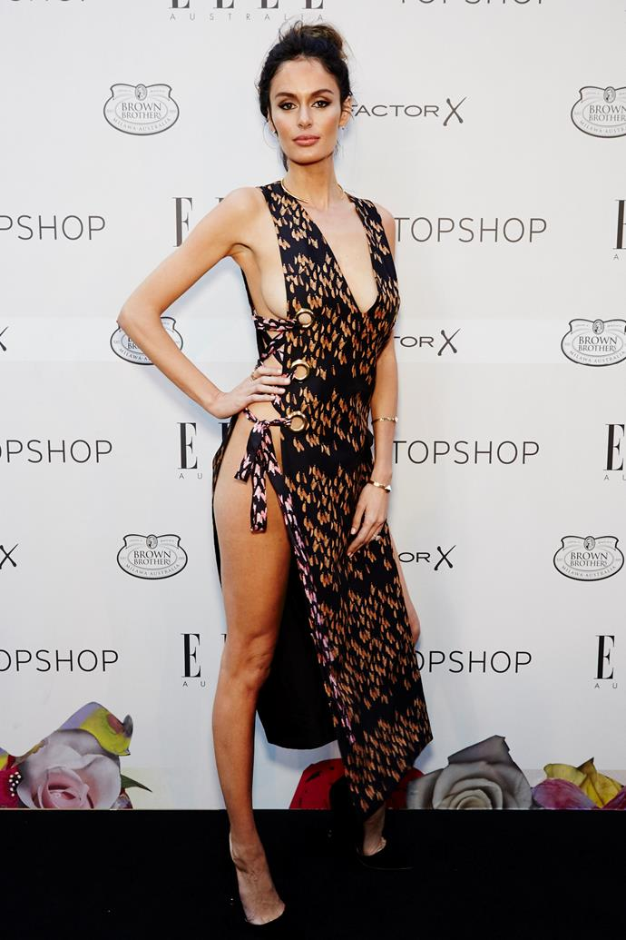 Nicole Trunfio wearing Ellery at the ELLE Style Awards.