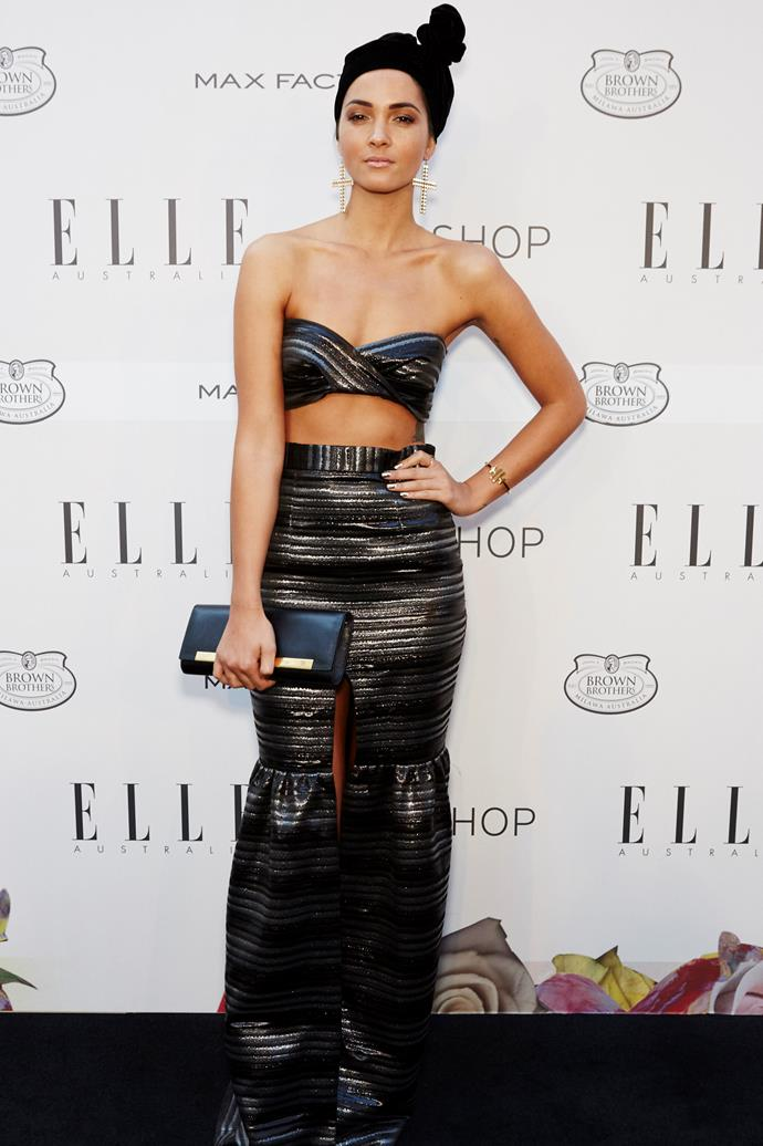 Aisha Jade wearing Alice McCall at the Elle Style Awards.
