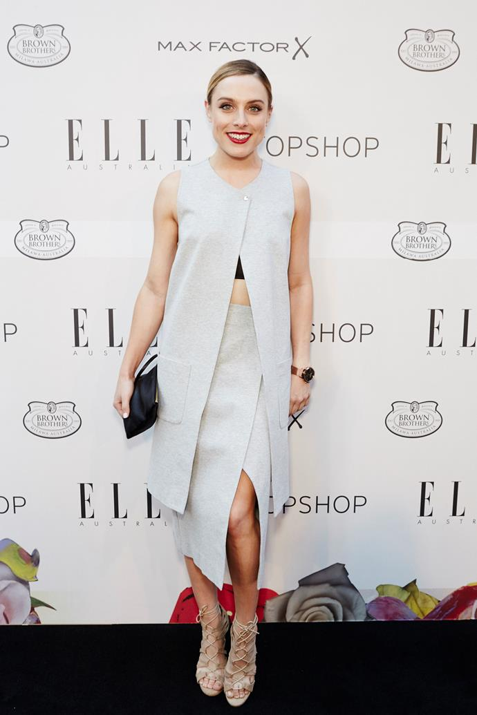 Casey Burgess arrives at the ELLE Style Awards.