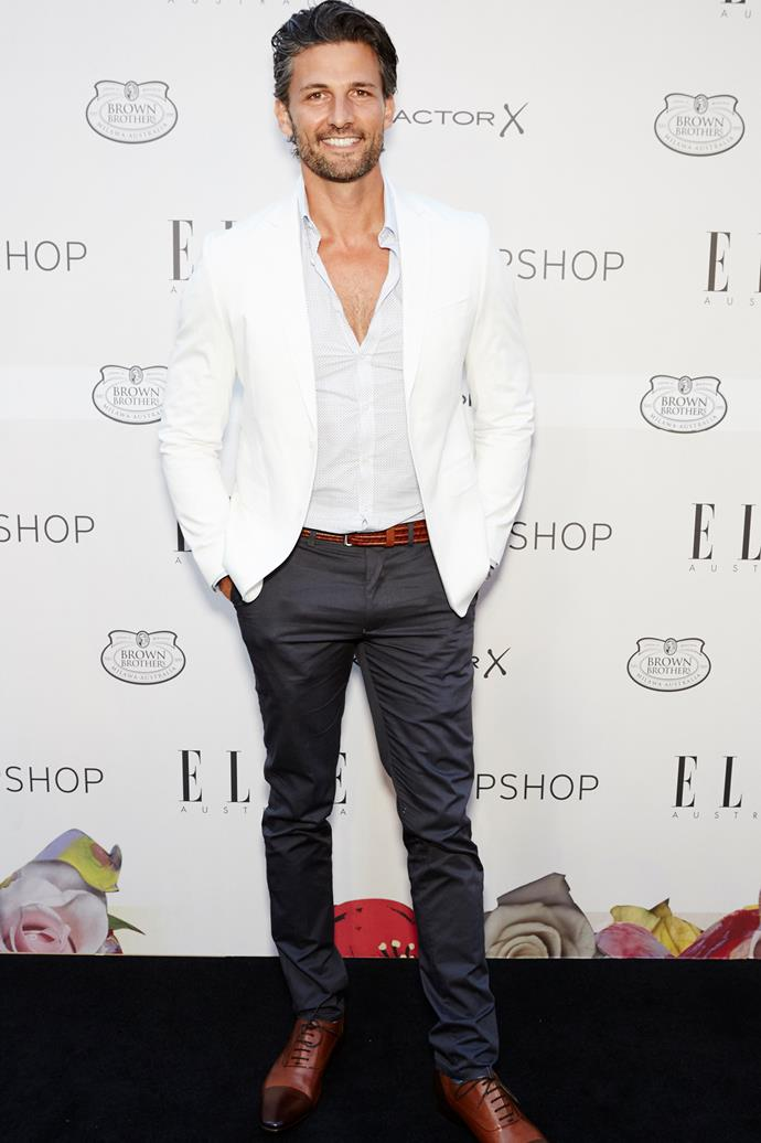 Tim Robards arrives at the ELLE Style Awards.