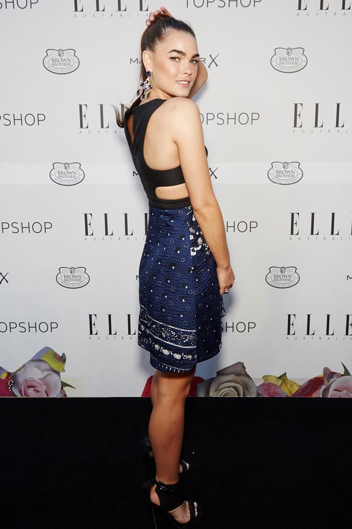 Bambi Northwood-Blyth arrives at the ELLE Style Awards.
