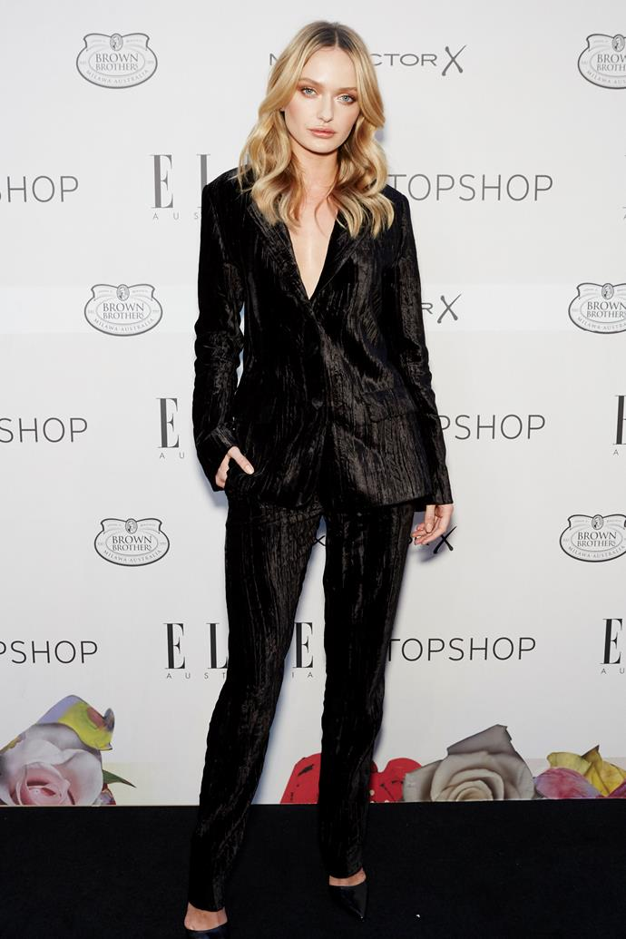 Annabella Barber arrives at the ELLE Style Awards.