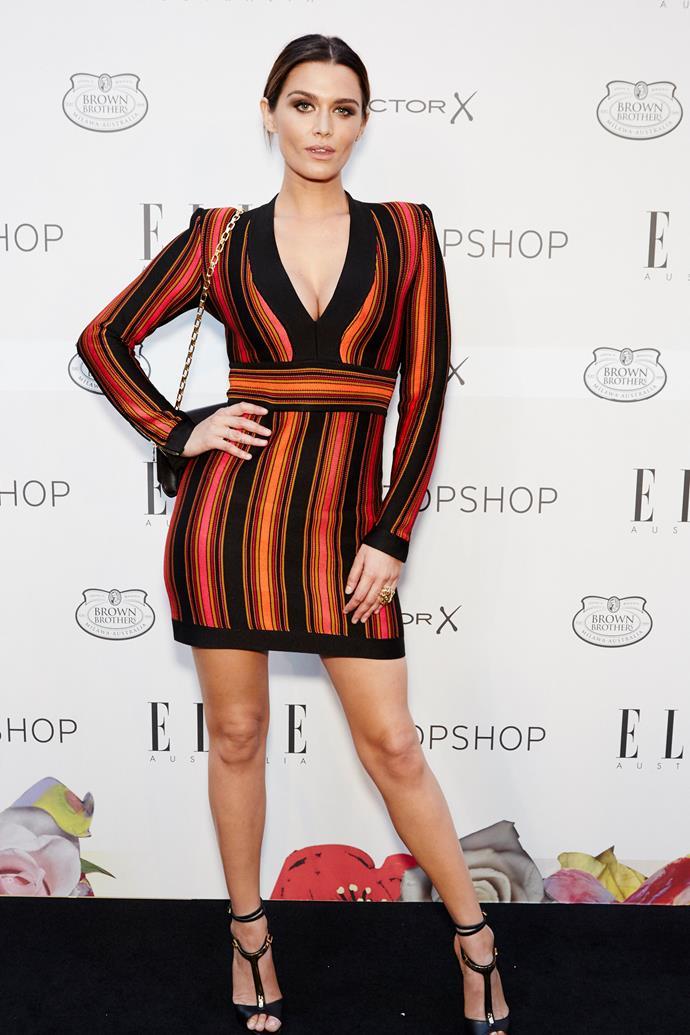 Cheyenne Tozzi arrives at the ELLE Style Awards.