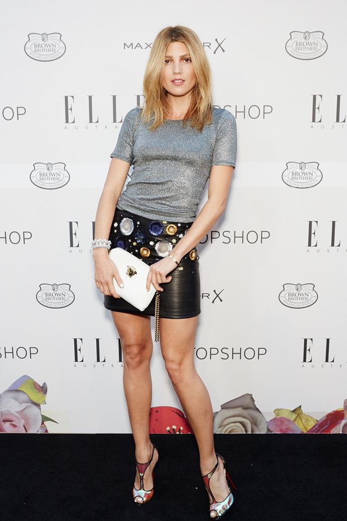 Tanja Gacic arrives at the ELLE Style Awards.