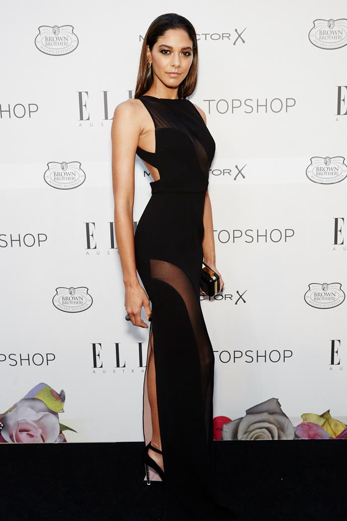 Heidy De La Rosa arrives at the Elle Style Awards.