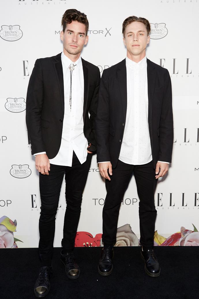 Nathan Joliffe and guest at the ELLE Style Awards.