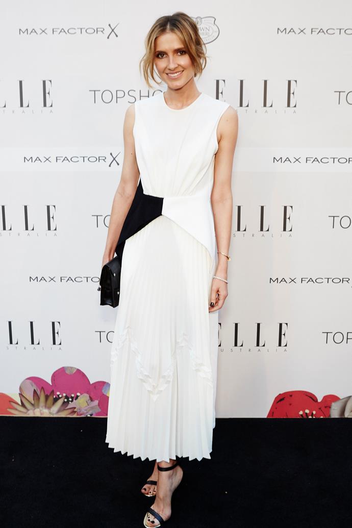 Kate Waterhouse wearing Christopher Esber at the ELLE Style Awards.