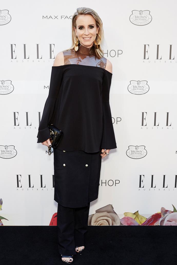 Amanda Shadforth wearing Camilla and Marc at the ELLE Style Awards.