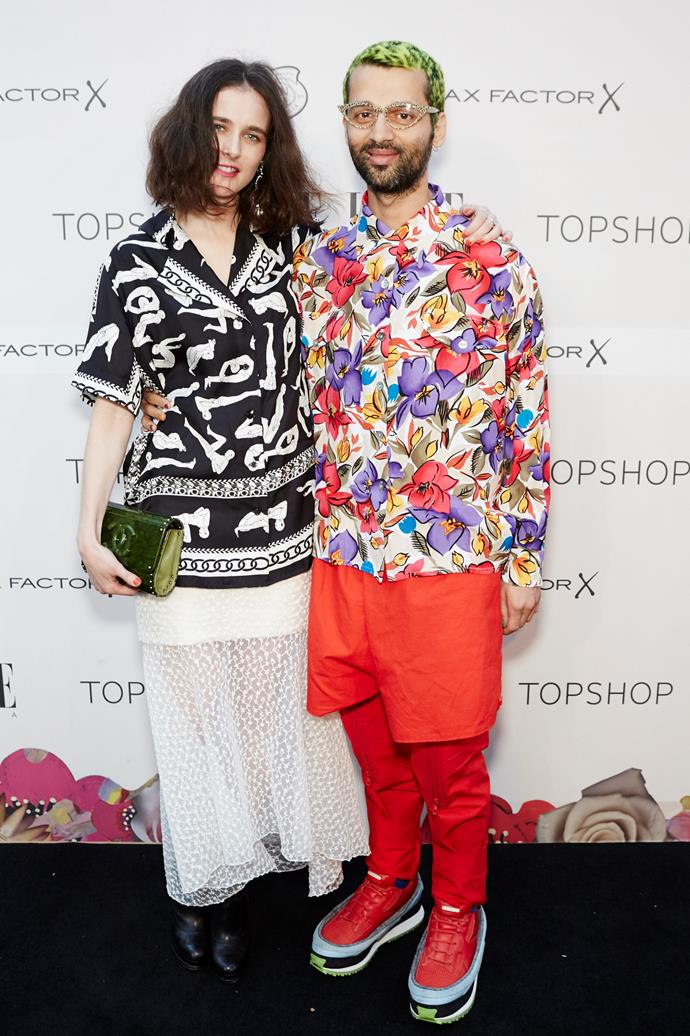 Anna Plunkett and Gary Bigeni at the ELLE Style Awards