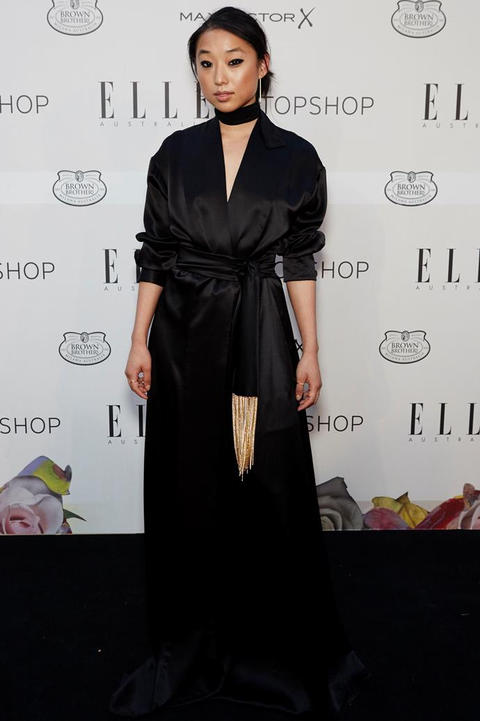 Margaret Zhang wearing Michael Lo Sordo at the ELLE Style awards.
