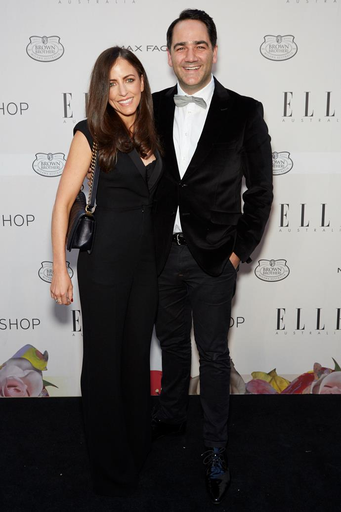 """Michael """"Wippa"""" Wipfli and wife Lisa at the ELLE Style awards."""