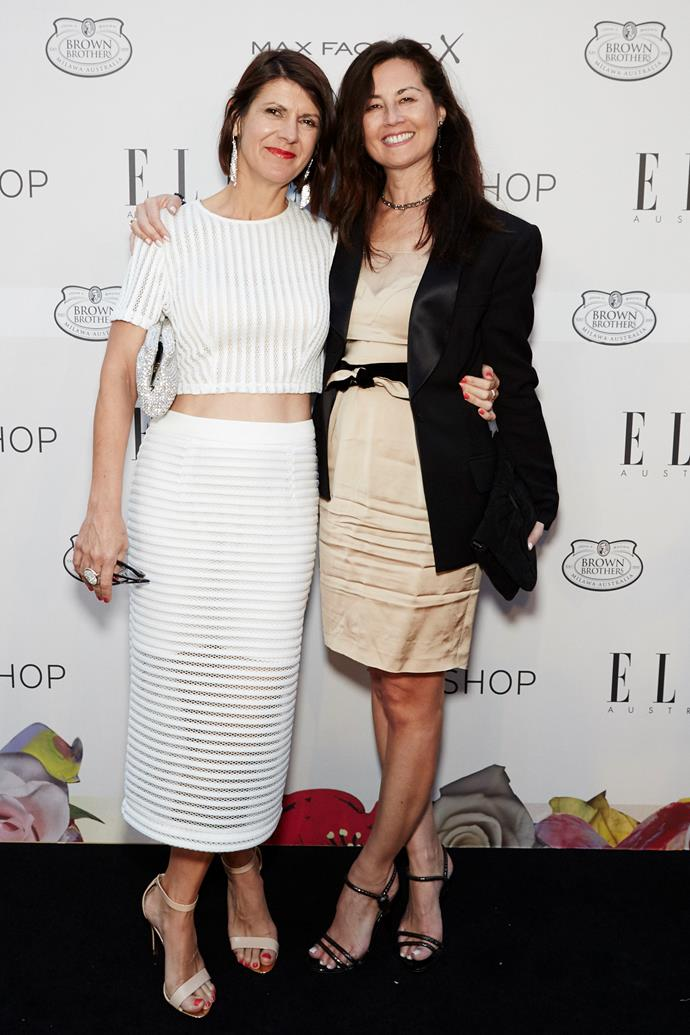 Hearst General Manager Marina Go (right) arrives at the ELLE Style awards.