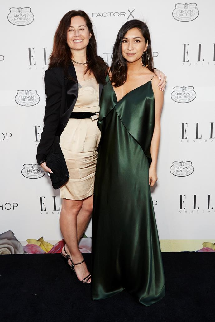 Hearst General manager Marina Go and ELLE editor-in-chief Justine Cullen at the ELLE Style Awards.