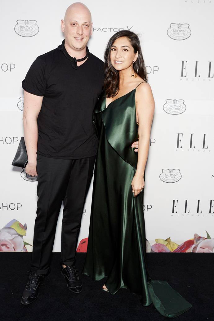 Michael Lo Sordo and ELLE editor-in-chief Justine Cullen at the ELLE Style Awards.