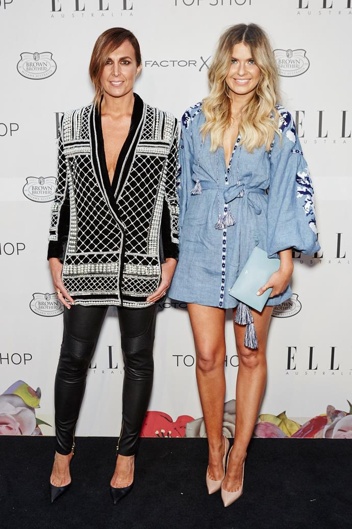 Tash Sefton and Elle Ferguson arrive at the ELLE Style awards.