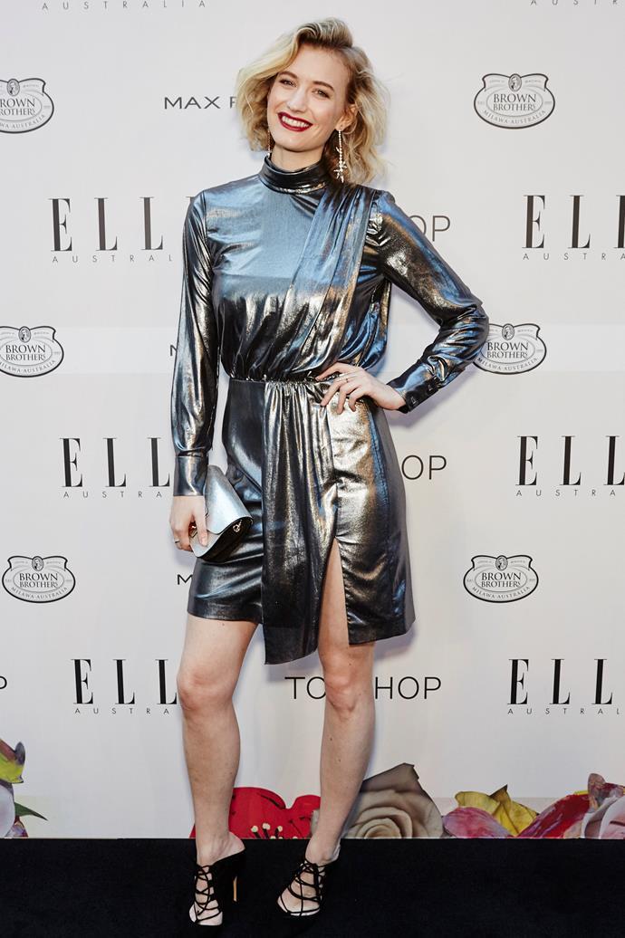 Zanita Whittington wearing Topshop at the ELLE Style Awards.