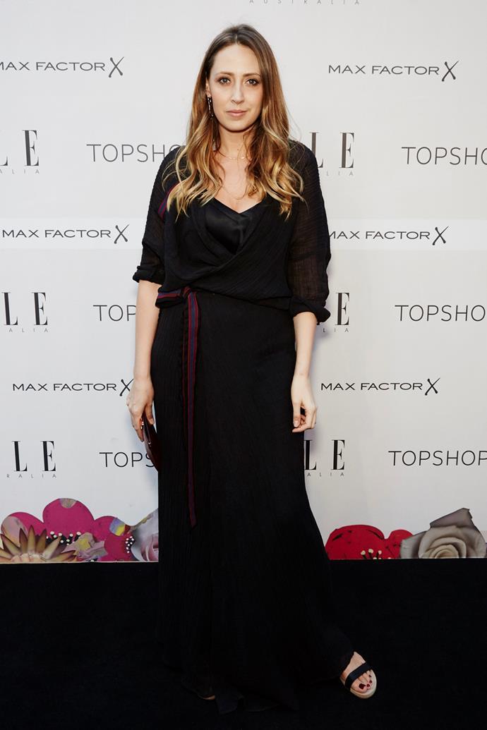 Genevra Leek arrives at the ELLE Style Awards.