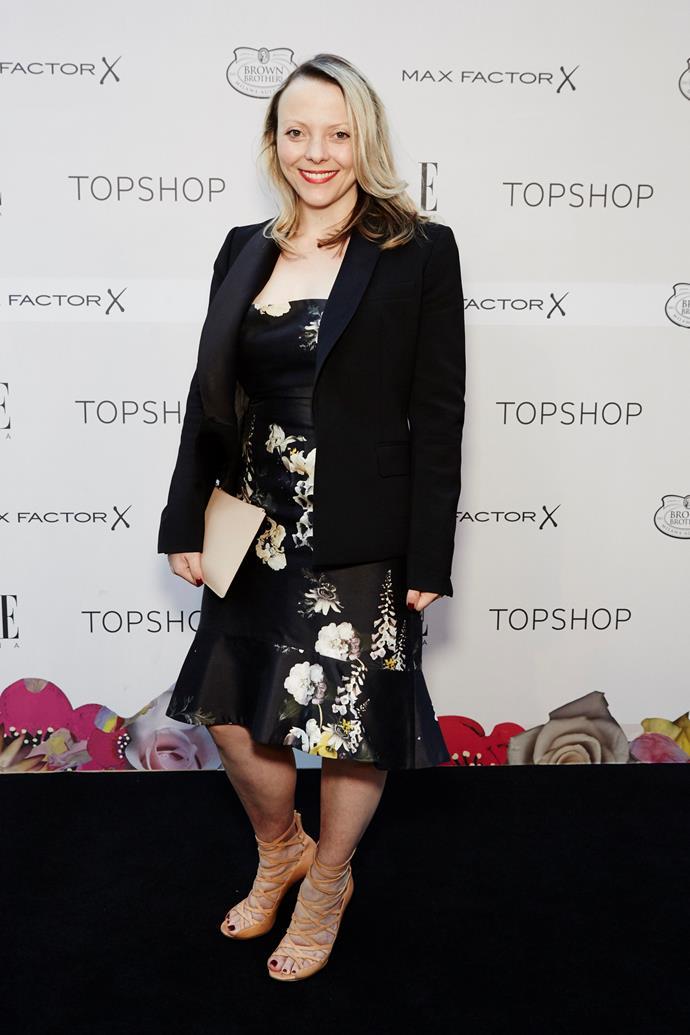 Annie Stevens arrives the ELLE Style Awards.