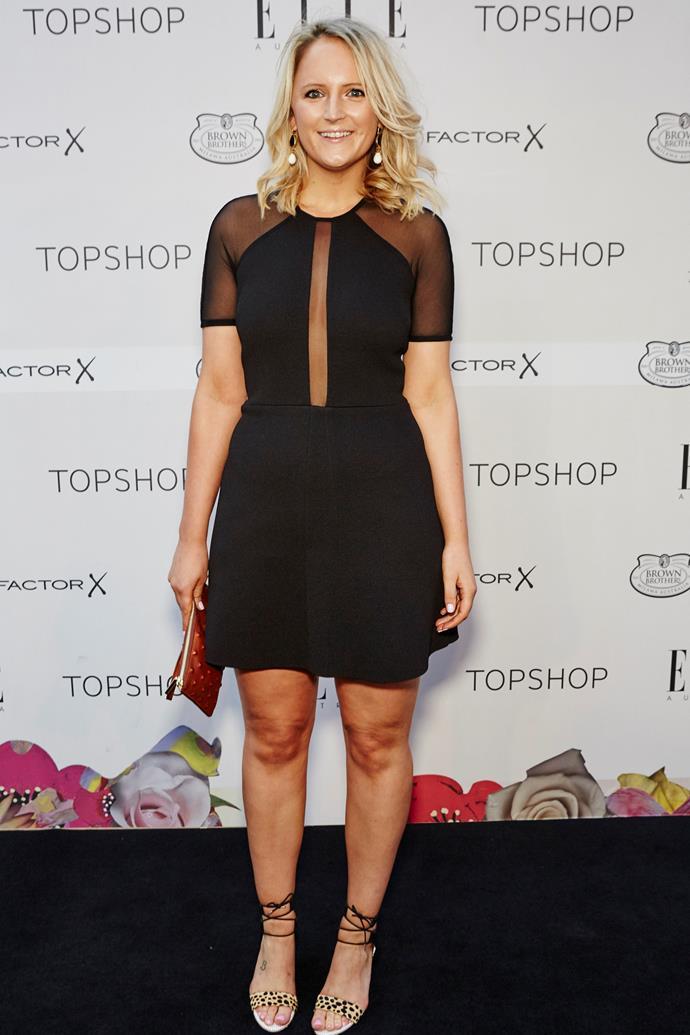 Brooke Bickmore arrives at the ELLE Style Awards.