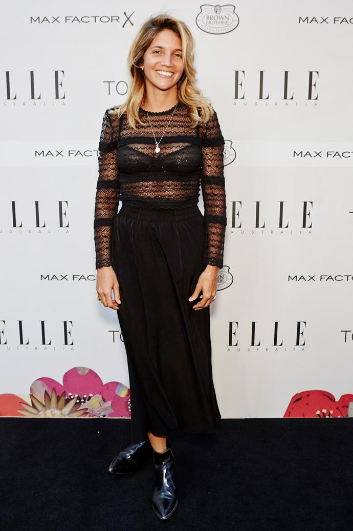 Carly Roberts arrives at the ELLE Style Awards.