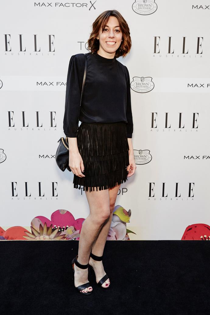 Laura Culbert arrives at the ELLE Style Awards.