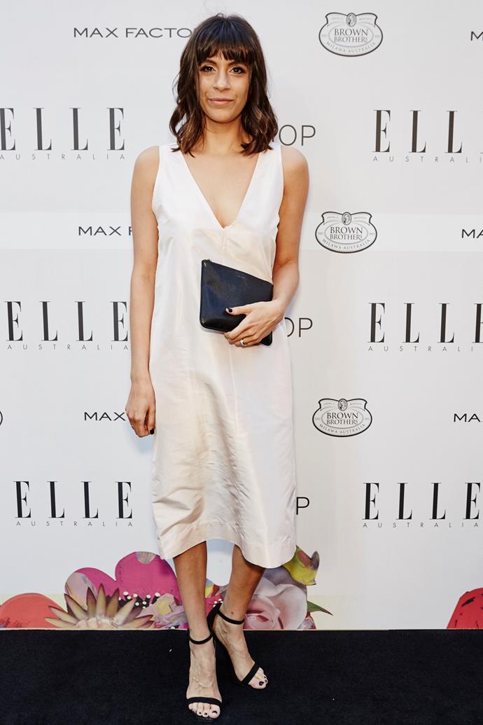 Eden Abagi arrives at the ELLE Style Awards.
