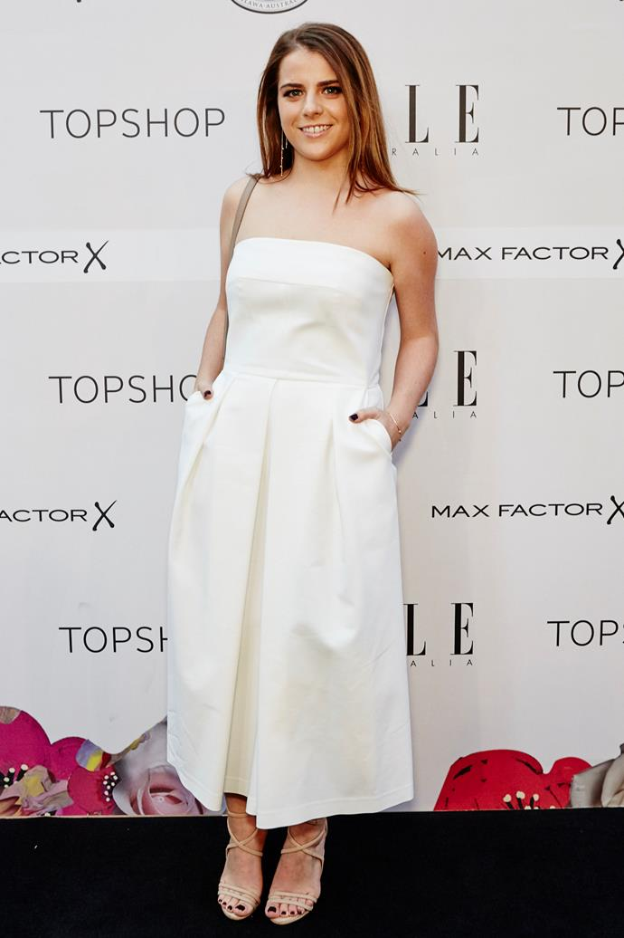 Laura Disibio arrives at the ELLE Style Awards.