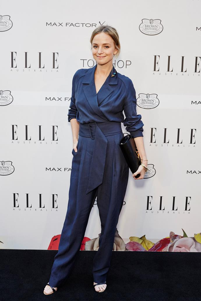 Nadia Fairfax wearing Topshop at the ELLE Style Awards.