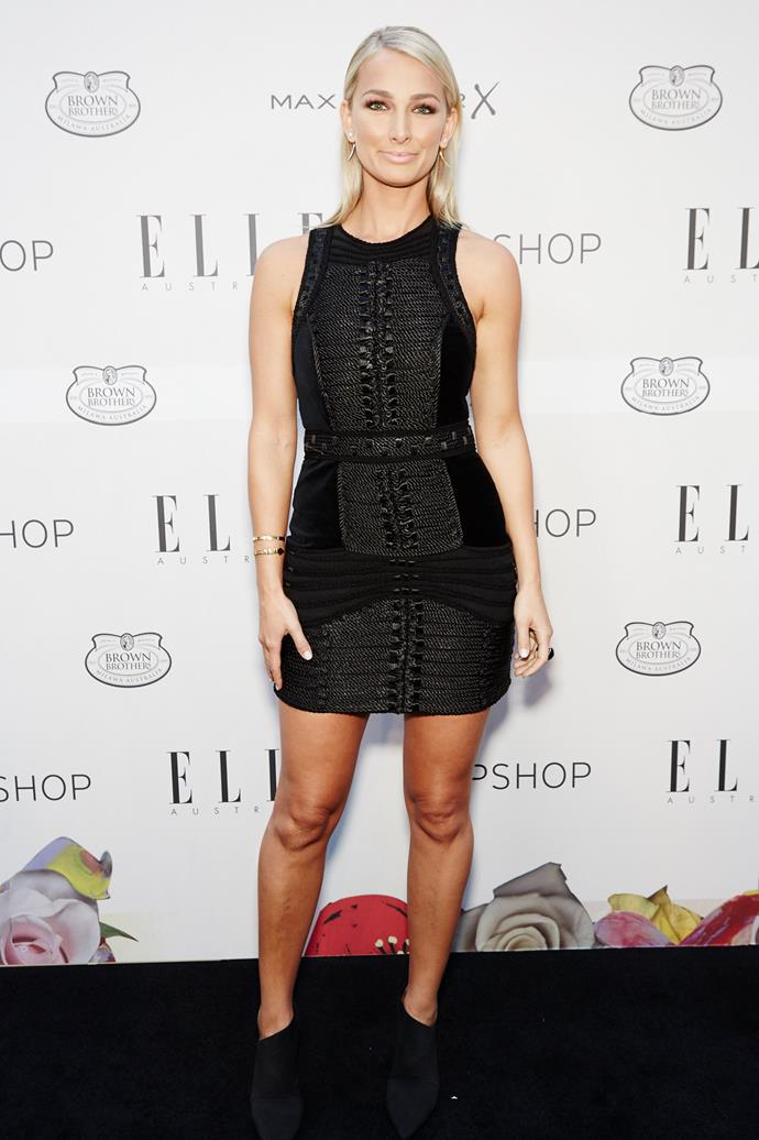 Anna Heinrich arrives at the ELLE Style Awards.