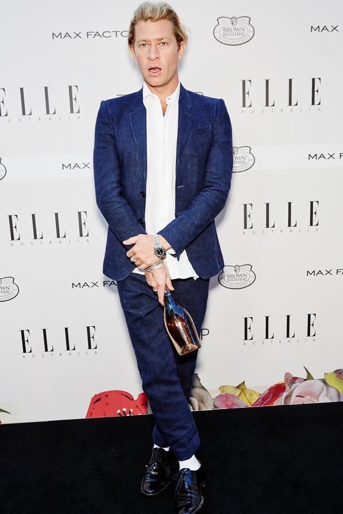 Dan Single arrives at the ELLE Style Awards.