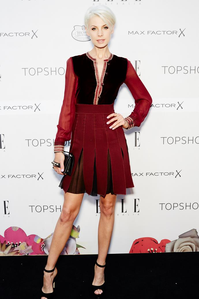 Kate Peck arrives at the ELLE Style Awards.
